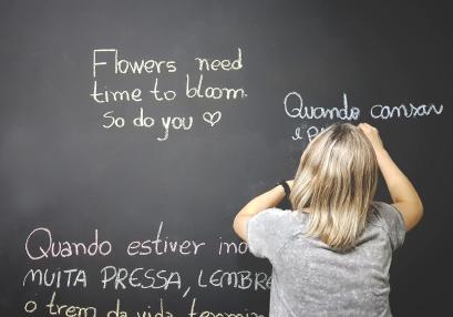 woman teaching spanish