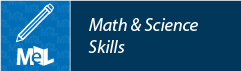 Math & Science Skills from LearningExpress Library web button example
