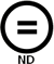 No Derivatives symbol