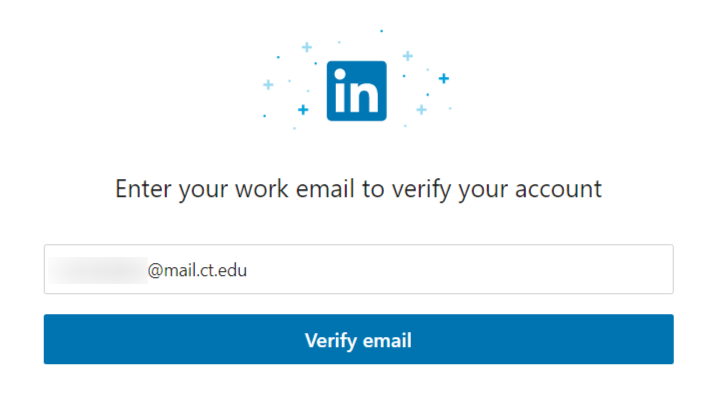 LinkedIn Learning Sign Up Page with example email address entered