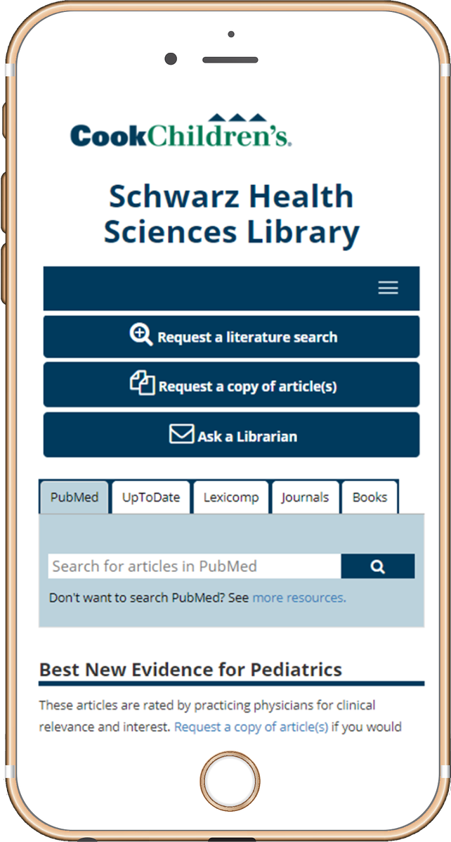 picture of iphone w/ library website