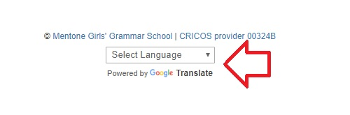 Change language preference on the library portal