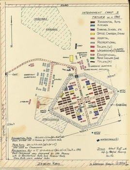 Internment Camp 3 Tatura as in 1945.