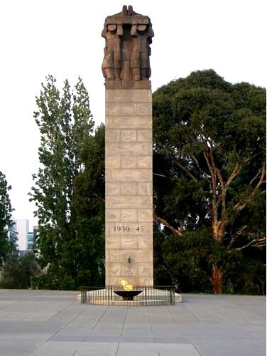 World War Two memorial forecourt at the Shrine of Remembrance, Melbourne