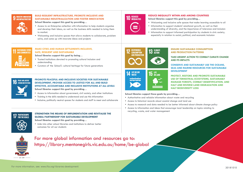 Kerferd Library IFLA UN 2030 Agenda page 1