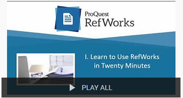 Learn to use RefWorks in 20 minutes