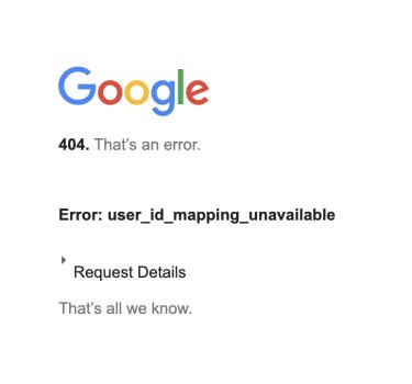 Google 404 that's an error