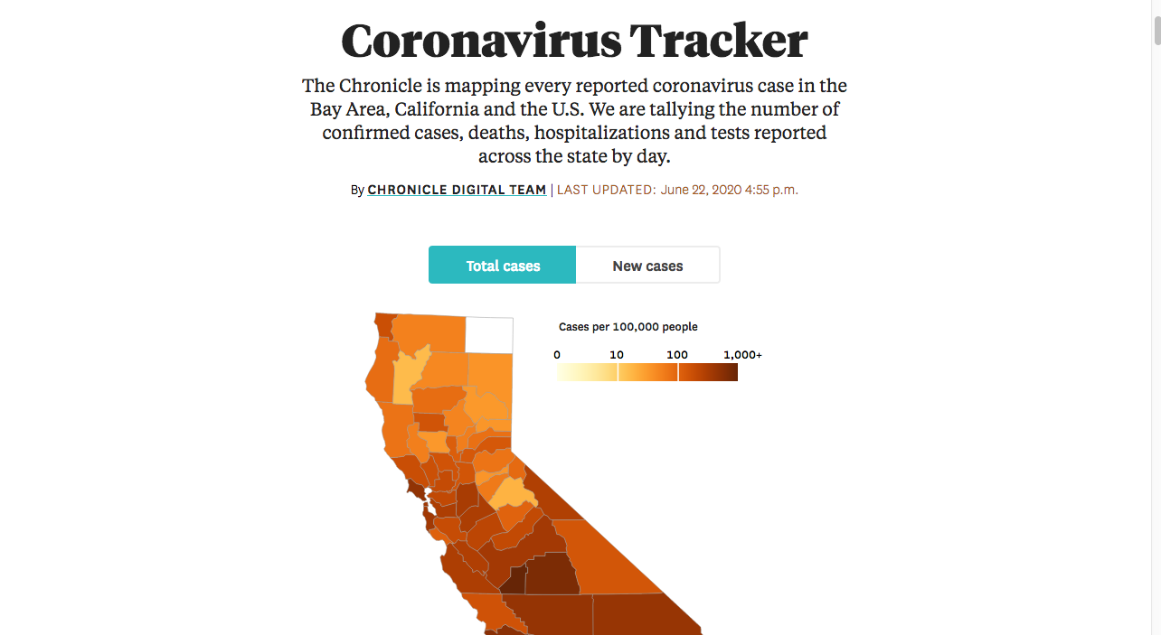 Covid-19 California Map and Bay Area Specific Data