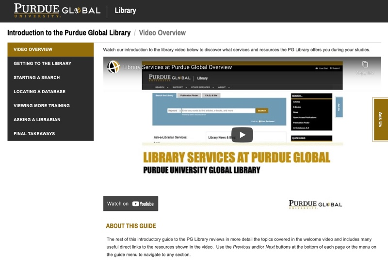 Video & Guide: Introduction to the PG Library