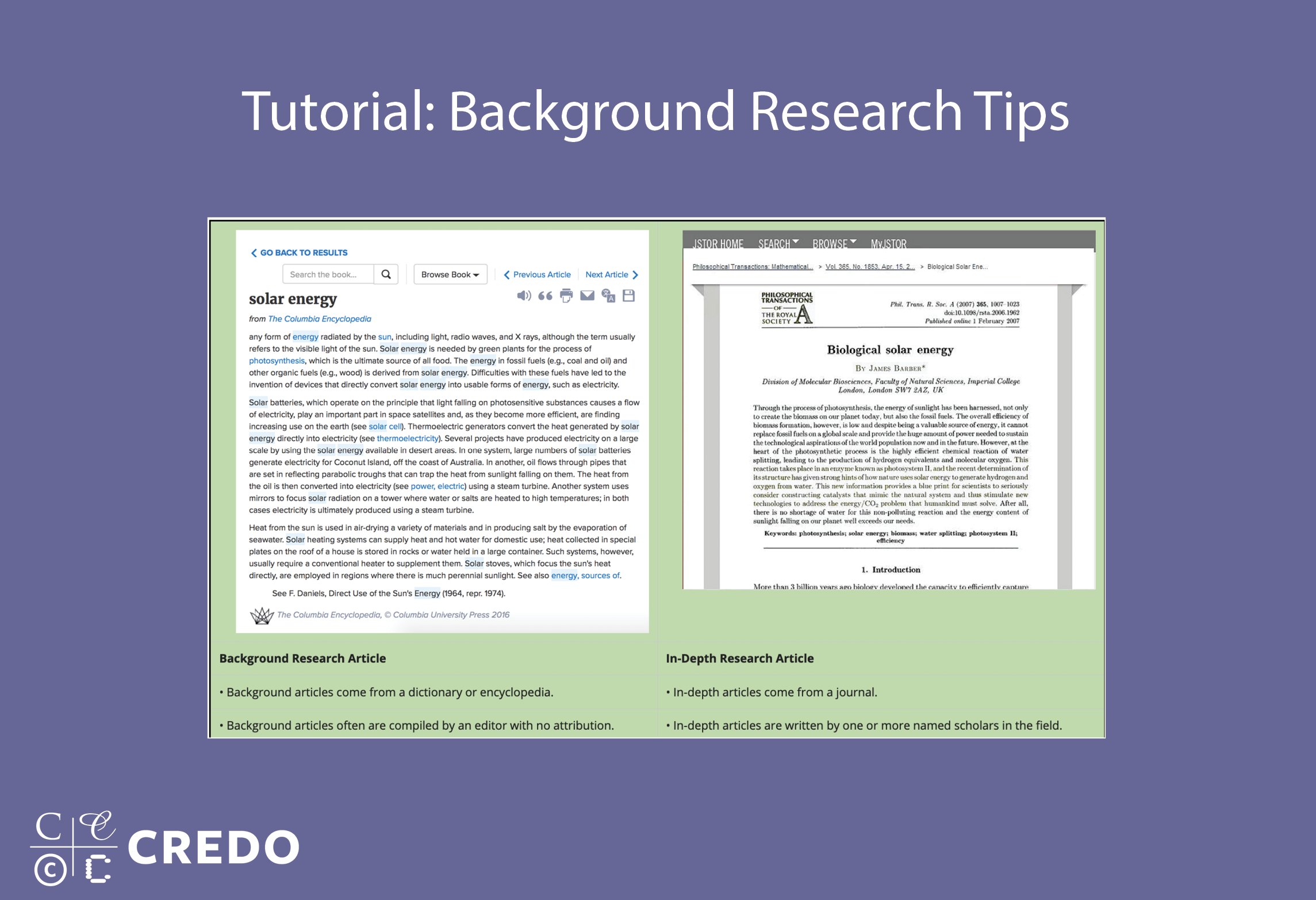 Tutorial: Background Research Tips