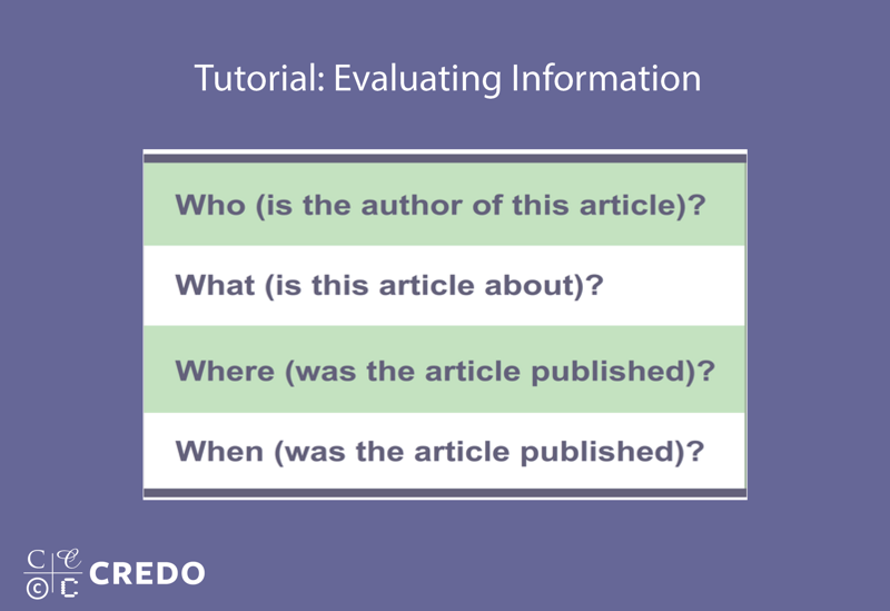 Tutorial: Evaluating Information