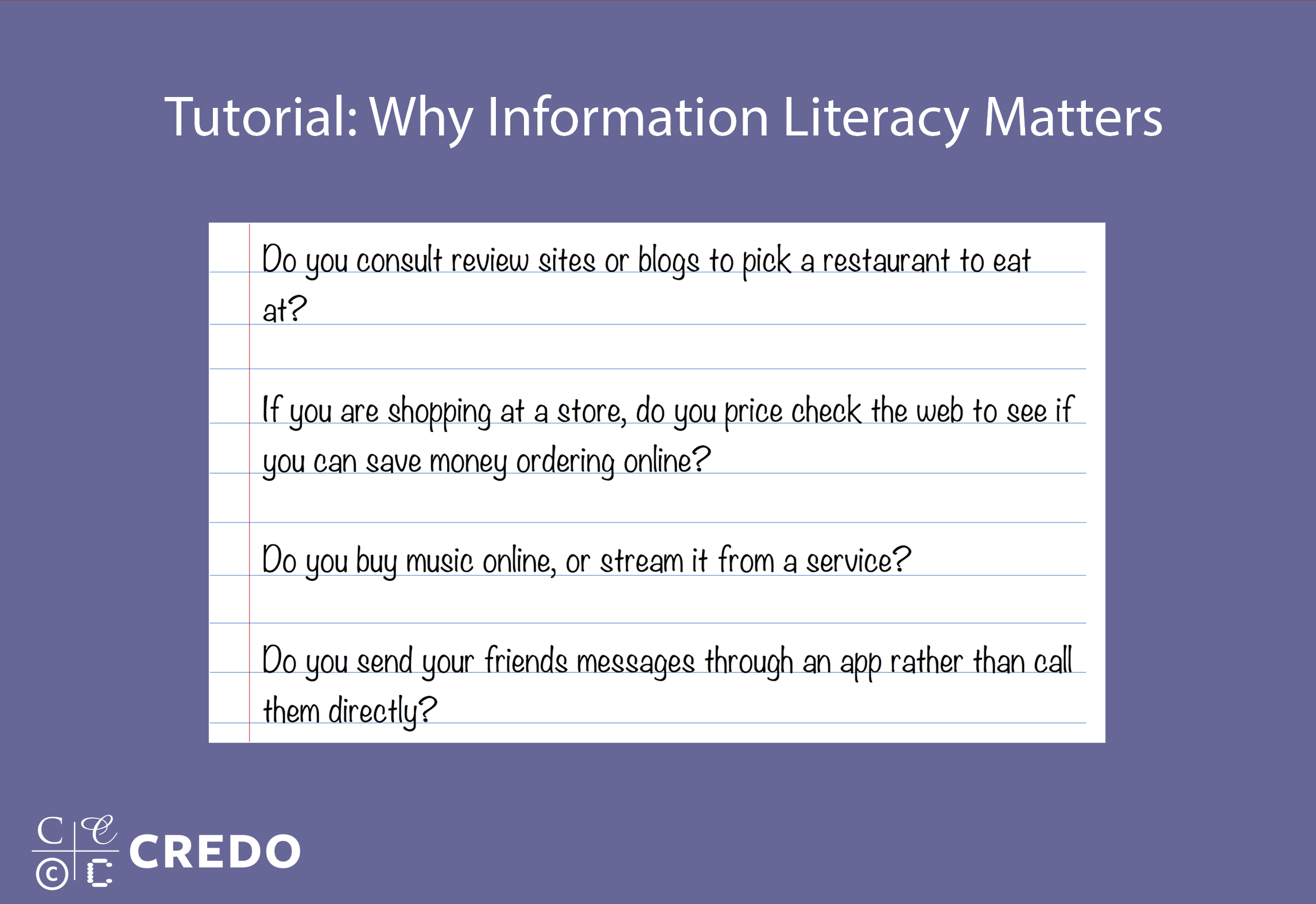 Tutorial: Why Information Literacy Matters