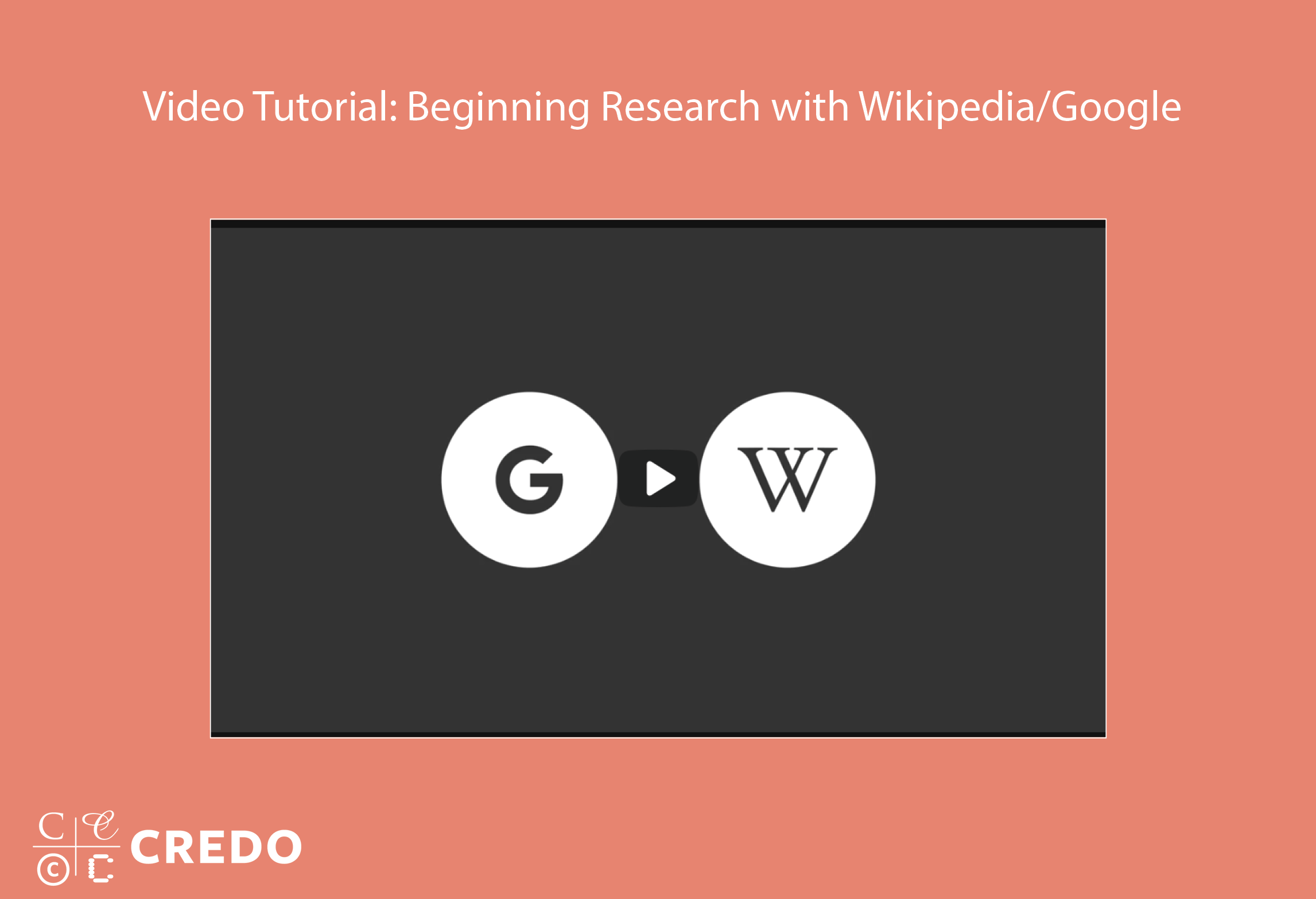 Video: Beginning Research with Google and Wikipedia