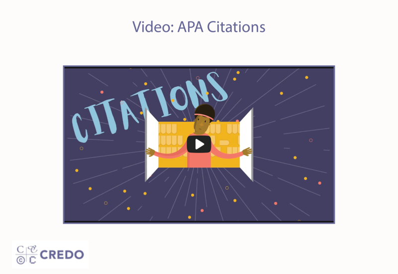 Video Tutorial: APA Citation Style