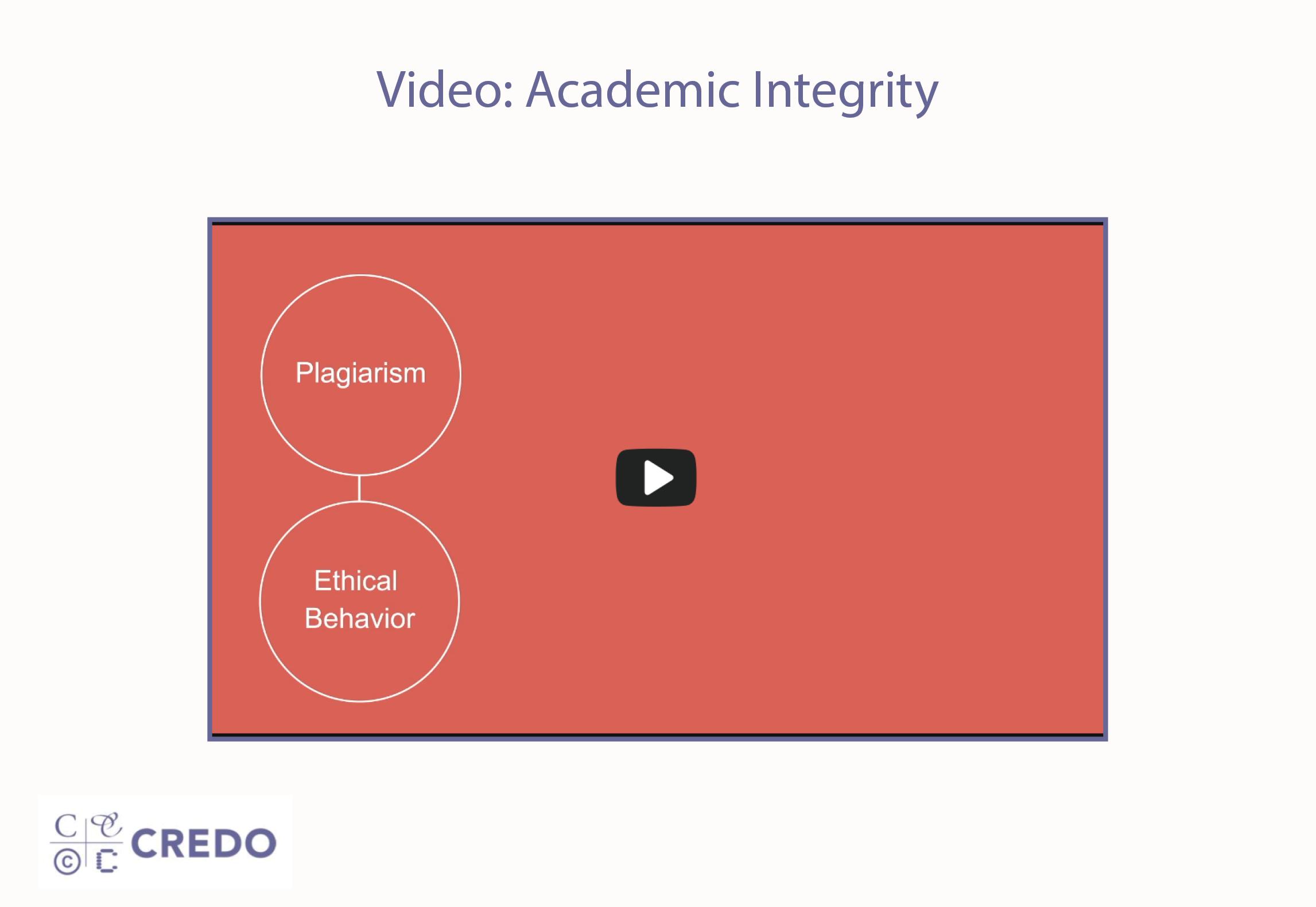 Video: Academic Integrity