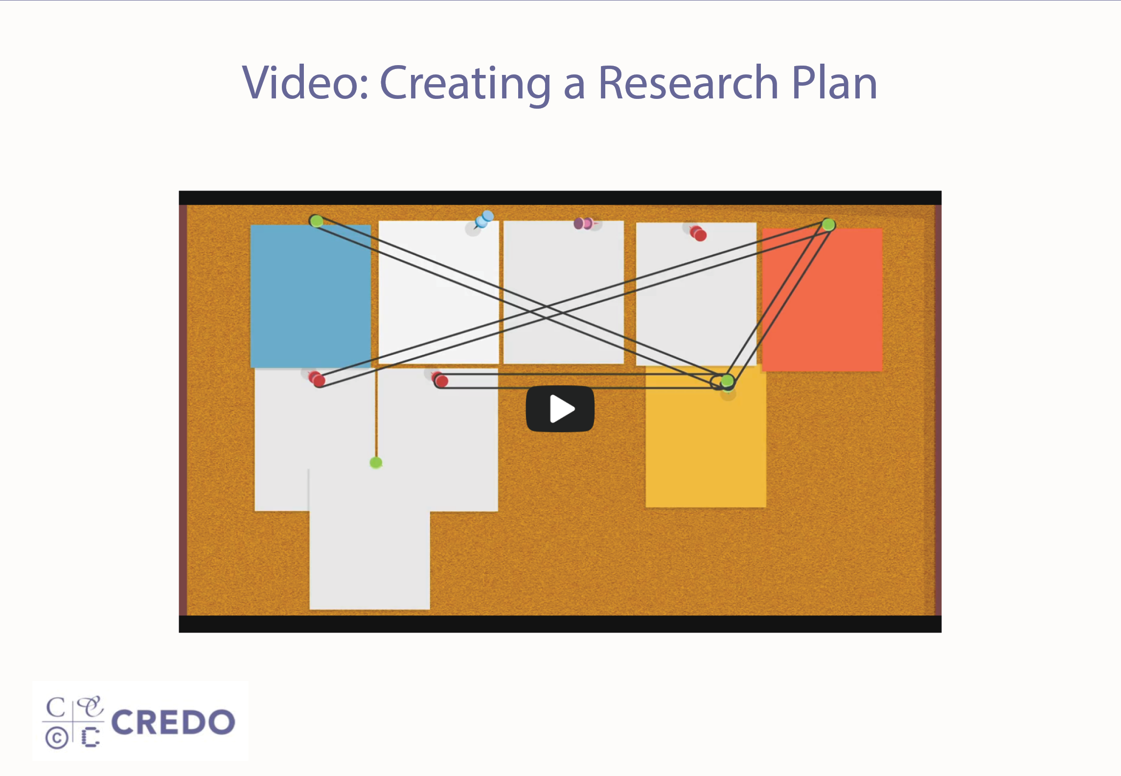 Video: Creating a Research Plan