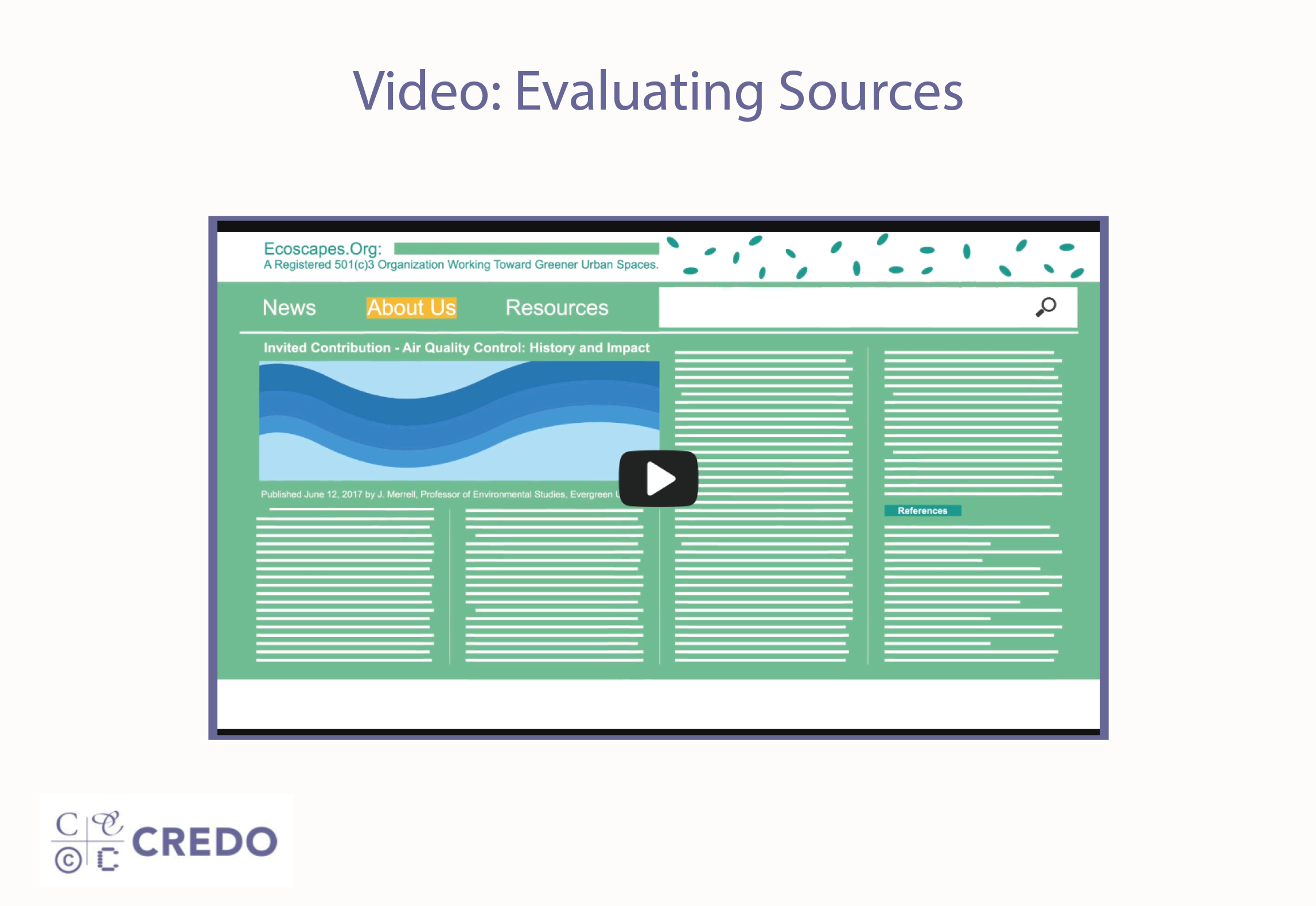 Video: Evaluating Sources