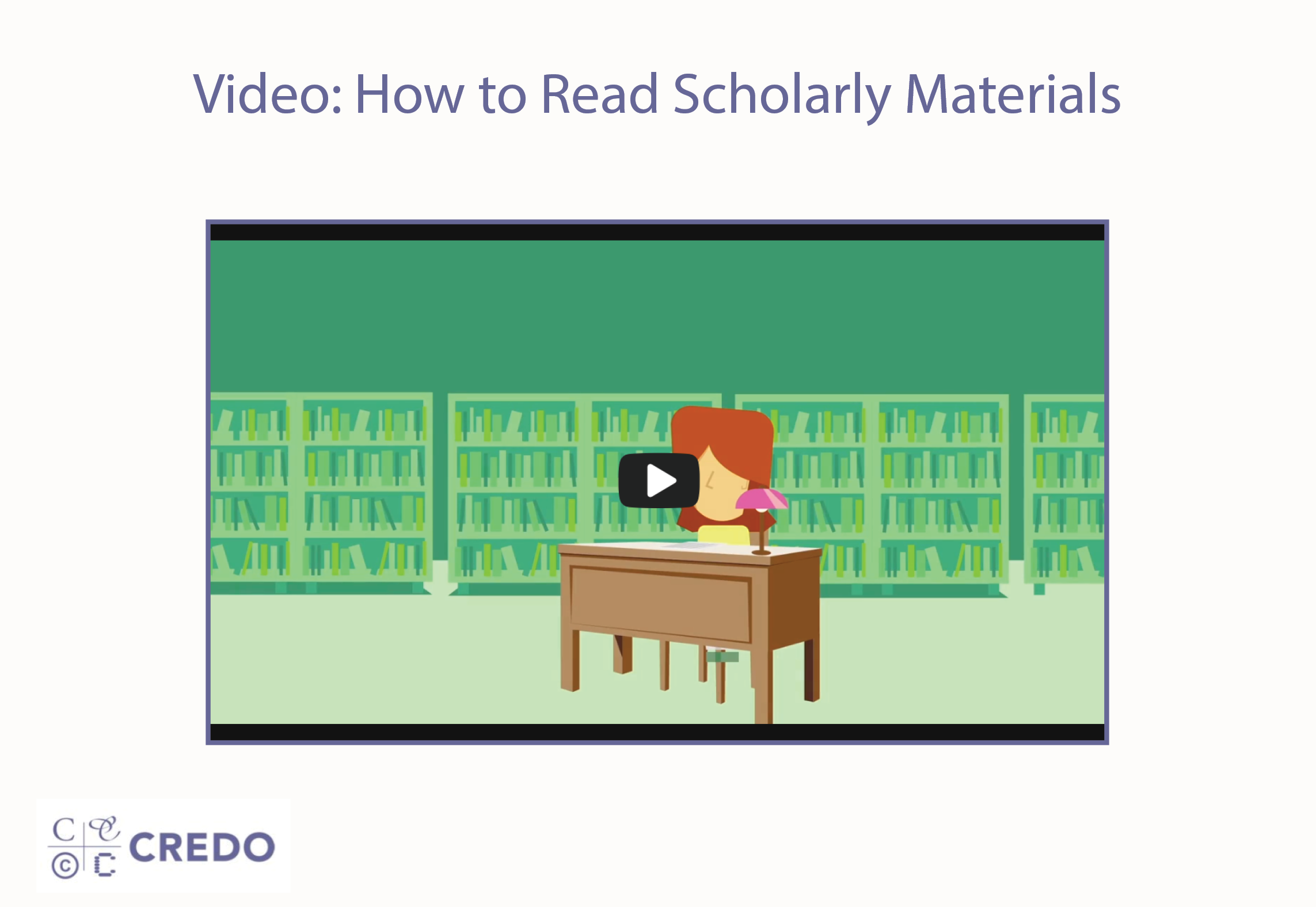 Video: How To Read Scholarly Materials