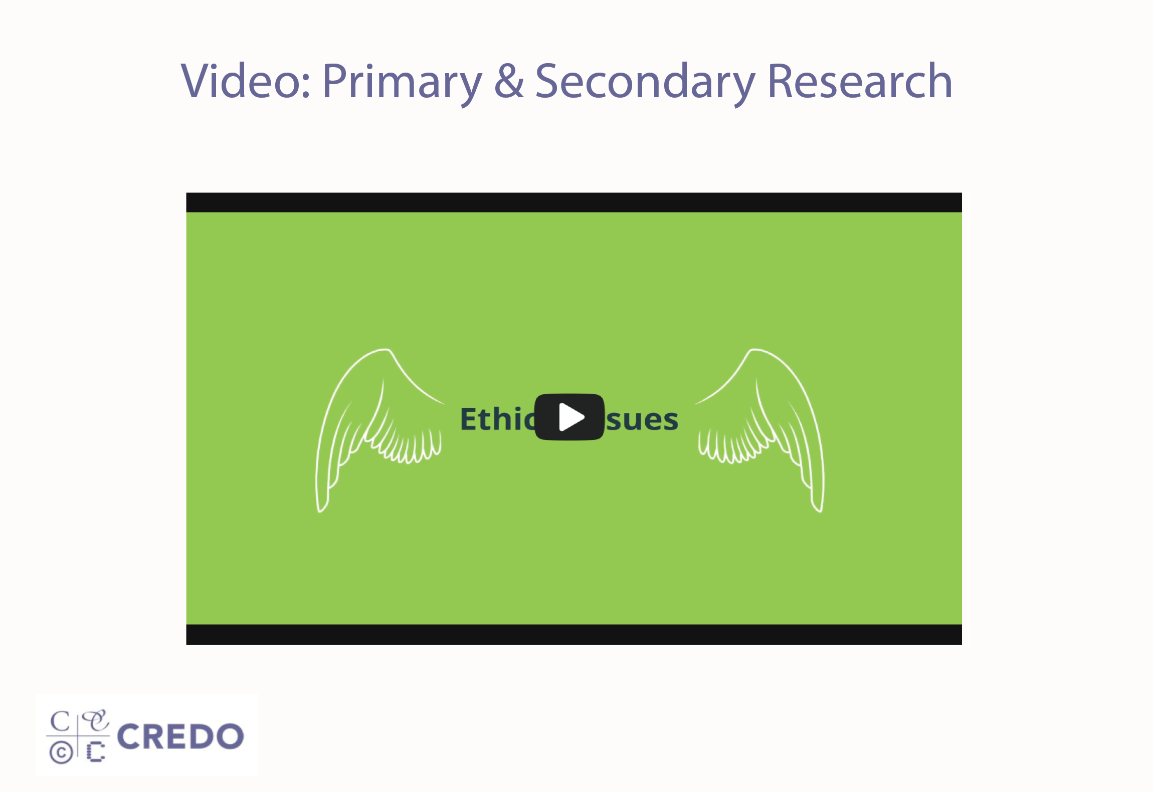 Video: Primary & Secondary Research