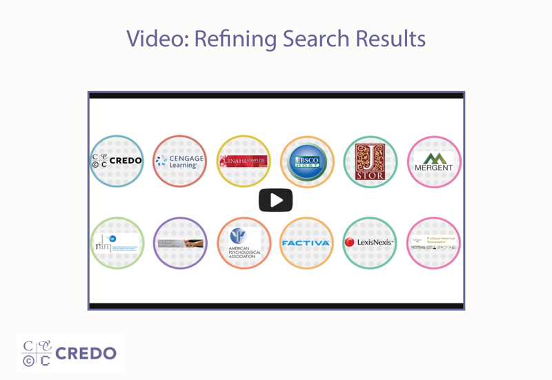 Video: Refining Search Results