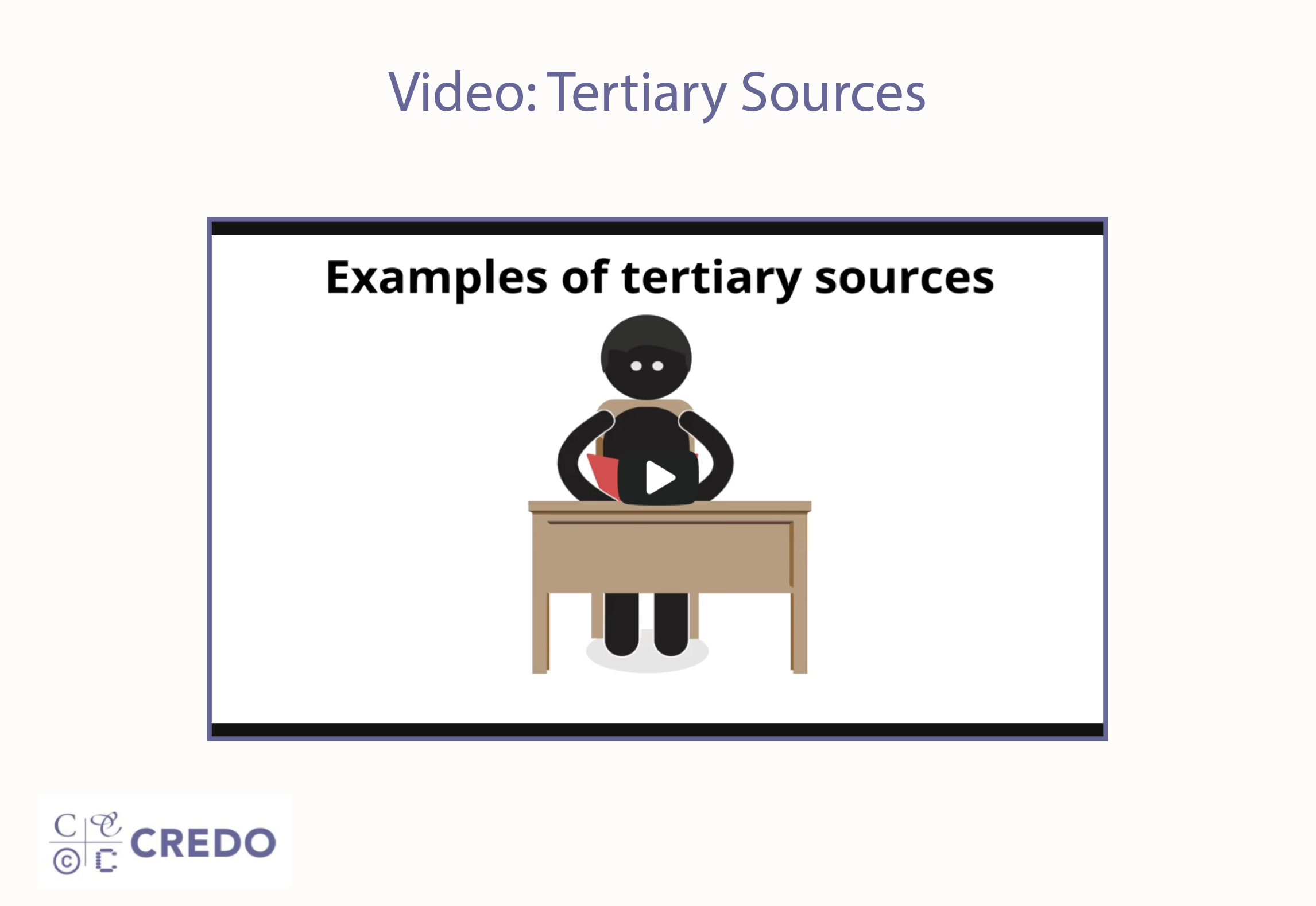 Video: Tertiary Sources