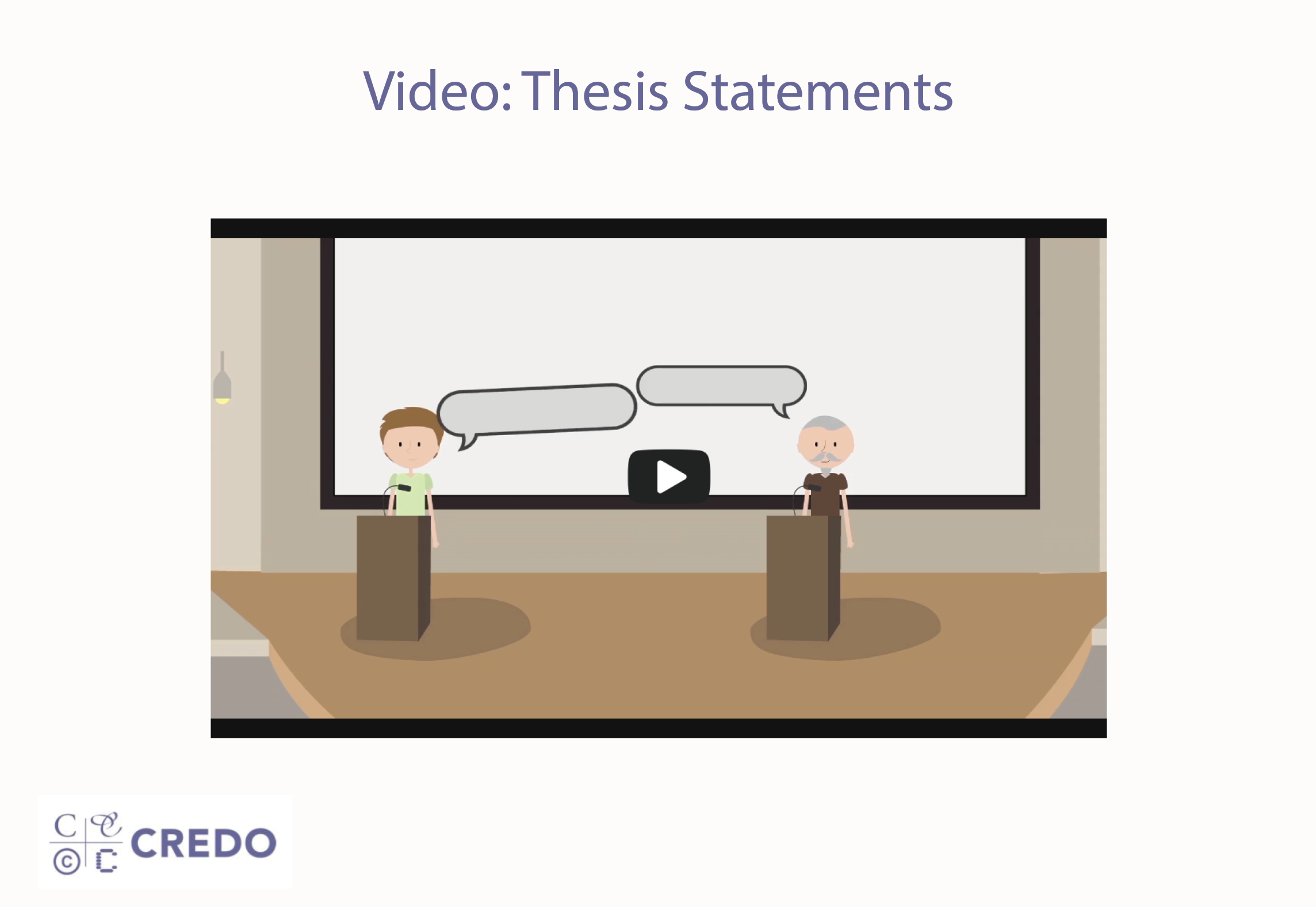 Video: Thesis Statements