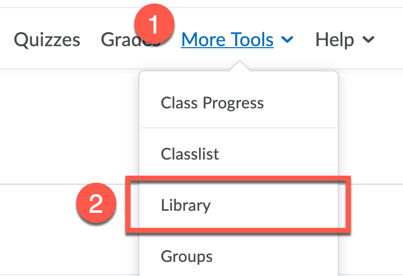 Screenshot of the More Tools menu in classrooms