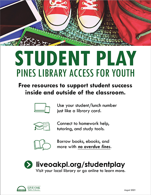 Student PLAY flyer in English
