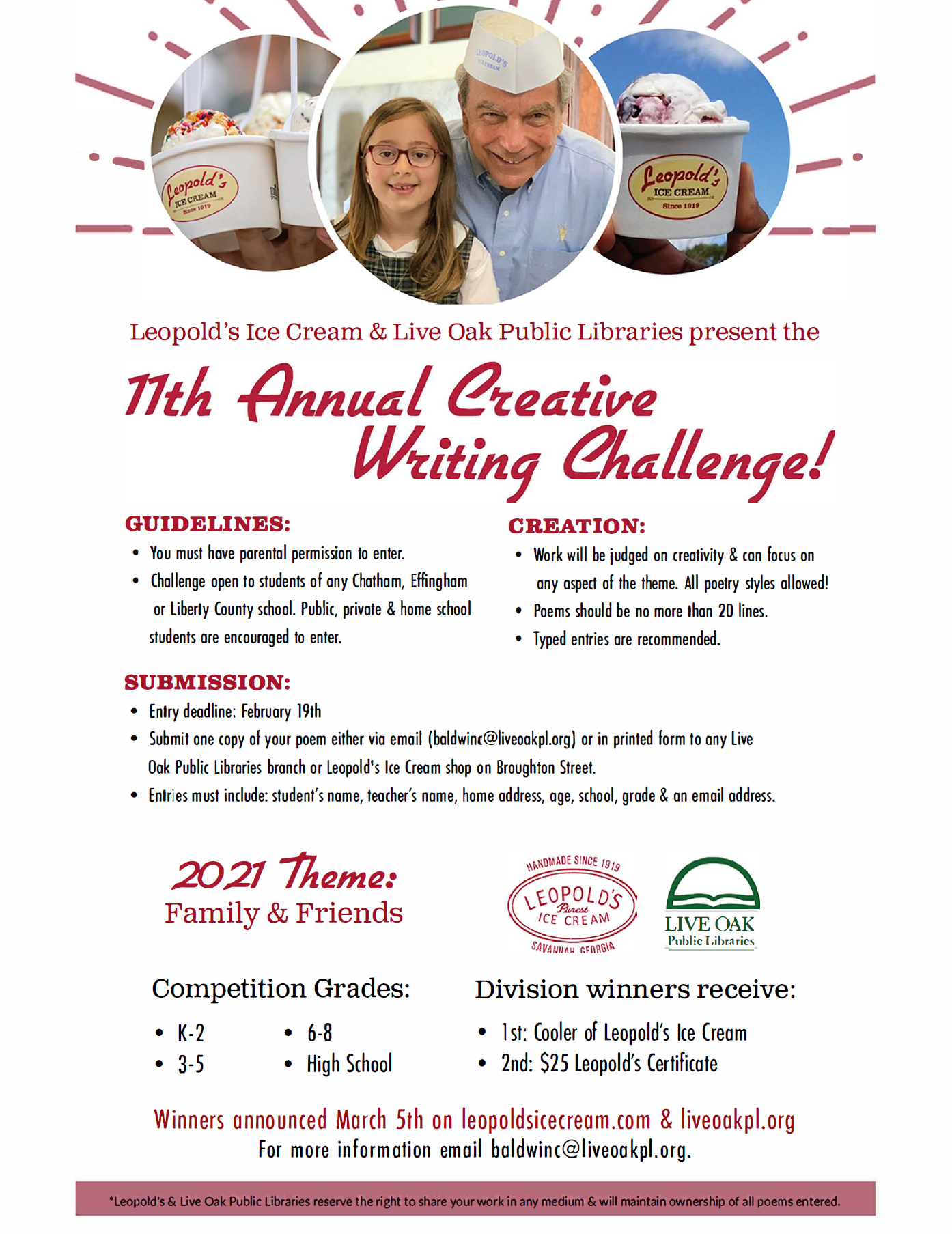 Leoolds' Creative Writing Contest 2021
