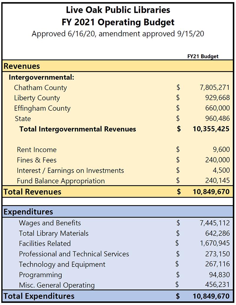 Fiscal Year 2021 Budget Snapshot