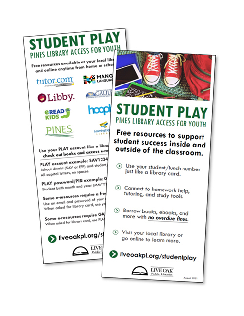 Student PLAY handouts