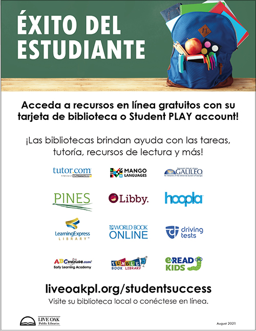 Student Success flyer in Spanish