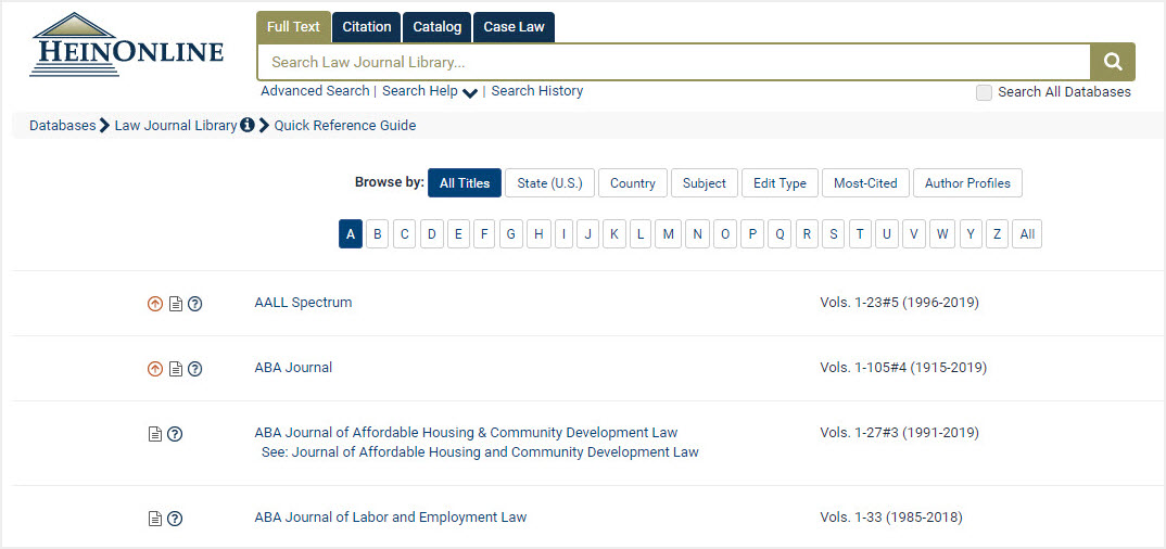 Law Journal Library Homepage