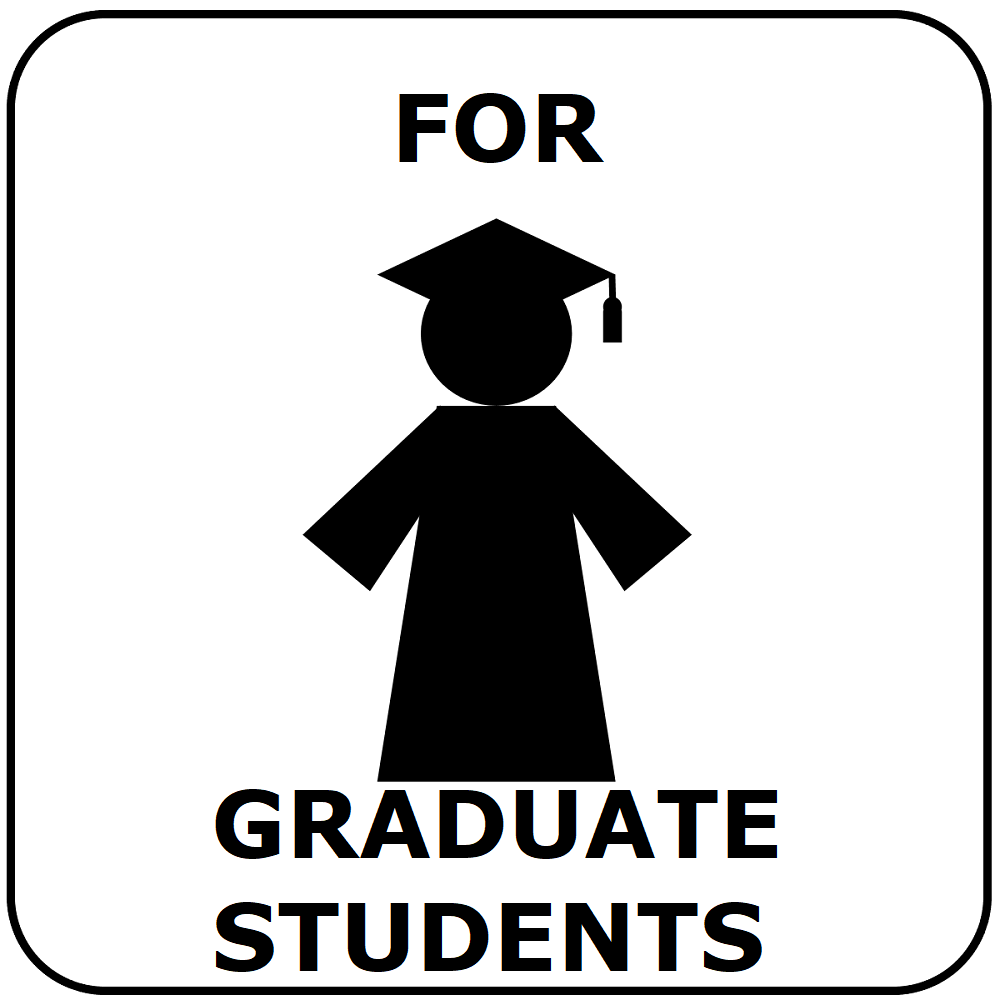 button for graduate student information