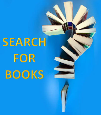 search for books - books in a question mark