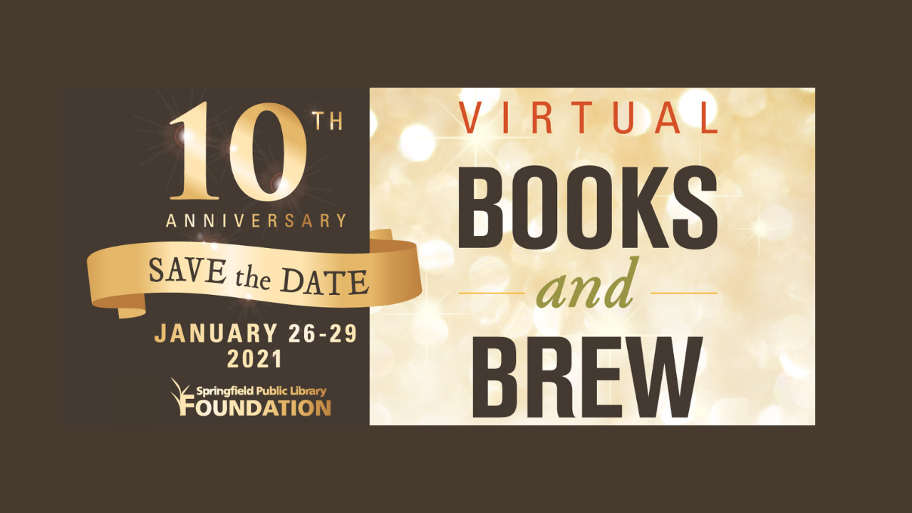 Library Foundation Books and Brew event flyer