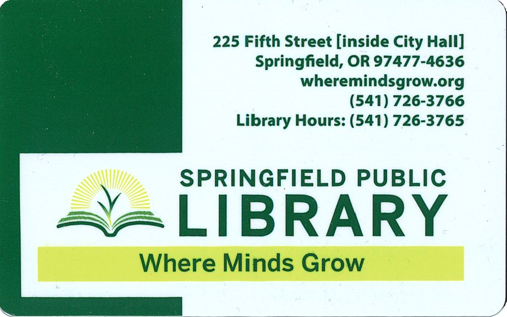 Springfield Public Library card