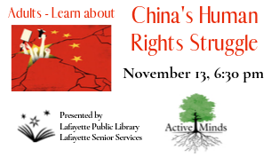 Active Minds Lecture: China's Human Rights Struggle
