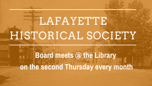 Lafayette Historical Society Board Meeting