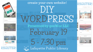 DIY WordPress Class by gooWee LLC - Register
