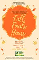 Fall Finals Hours