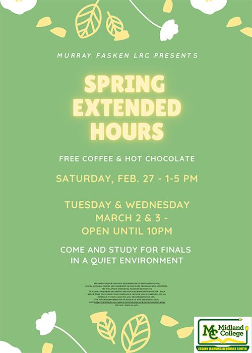 8 Week Extended Hours