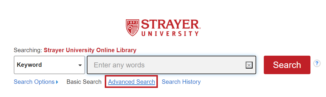 library search bar