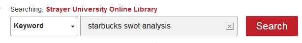 SWOT analysis search example