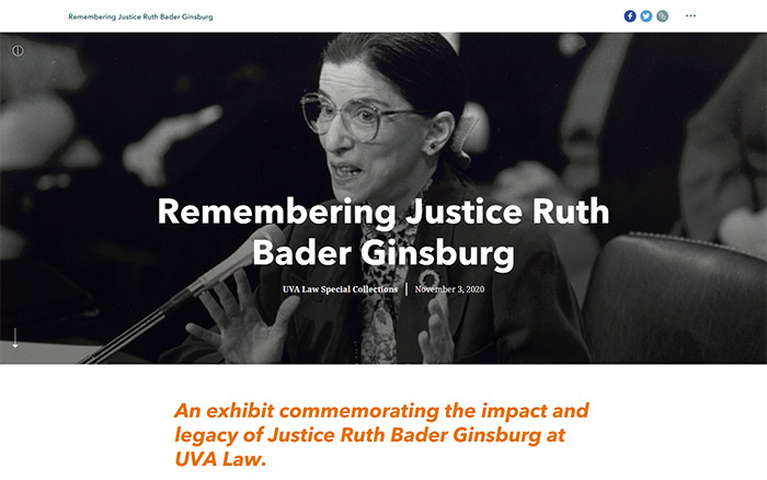 Remembering Justice Ruth Bader Ginsburg website