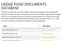 Hedge Fund Documents Database
