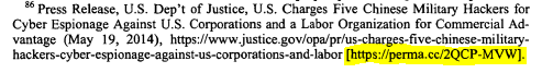 perma.cc link example in a law review citation