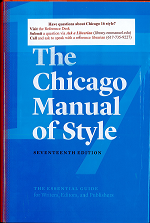 Book cover Chicago Manual of Style