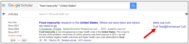 Full Text Access from Google Scholar