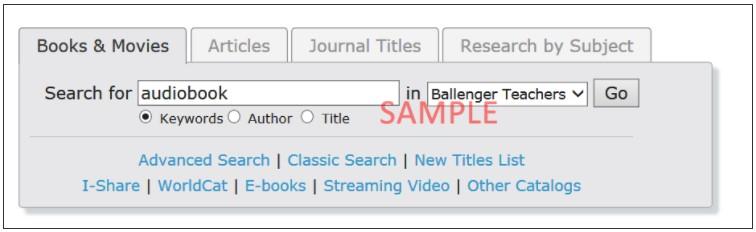 BTC search screenshot